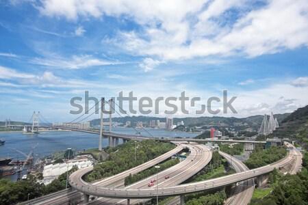 Tsing ma bridge at day Stock photo © cozyta
