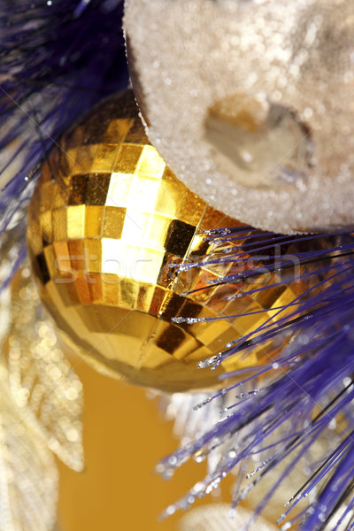 background made of christmas balls and tinsel  Stock photo © cozyta