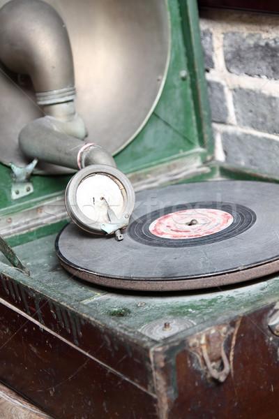 Vintage giradischi settanta tecnologia retro Foto d'archivio © cozyta