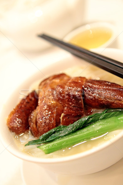 китайский продовольствие здоровья дым зеленый красный мяса Сток-фото © cozyta