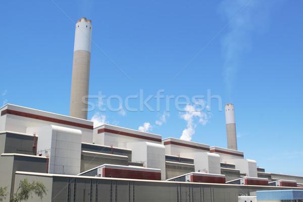 石炭 燃焼 発電所 煙 産業 ガス ストックフォト © cozyta