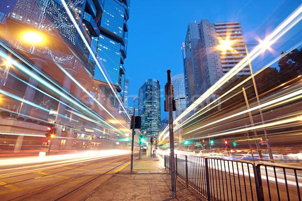 движения ночь бизнеса улице знак городского Сток-фото © cozyta