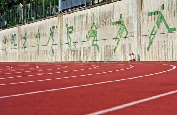 Running track numbers one two three in stadium  Stock photo © cozyta
