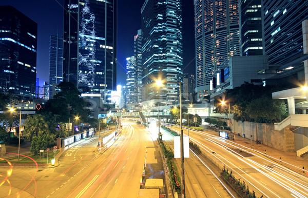 Ruchu miasta świetle niebo biuro budynku Zdjęcia stock © cozyta