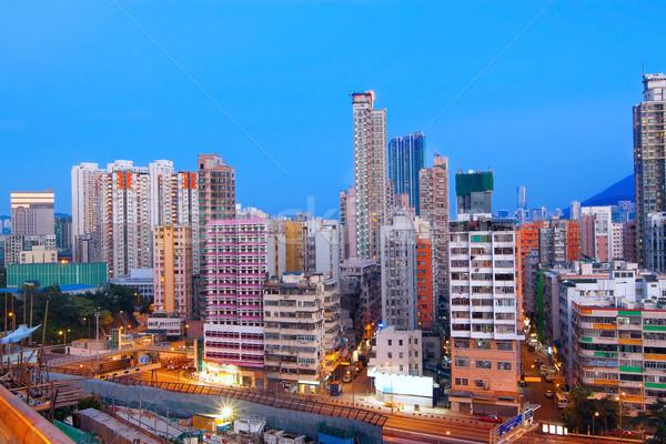 オフィスビル 日没 香港 空 ツリー 建物 ストックフォト © cozyta