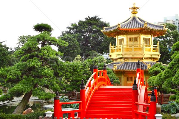 Pavilion of Absolute Perfection in the Nan Lian Garden, Hong Kon Stock photo © cozyta