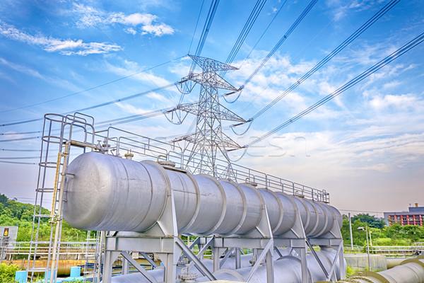 Stockfoto: Macht · toren · technologie · metaal · rook