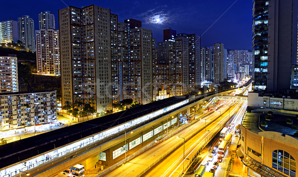 kwun tong downtown at night Stock photo © cozyta