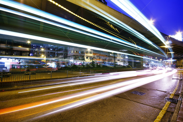High traffic street in a rush-hour at night  Stock photo © cozyta