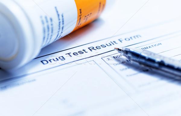 Drogas prueba forma variedad médicos tecnología Foto stock © cozyta