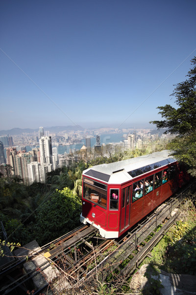 Tourist tram at the Peak, Hong Kong  Stock photo © cozyta