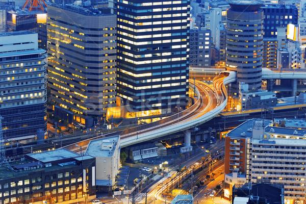 Osaka şehir ufuk çizgisi bölge Japonya Stok fotoğraf © cozyta
