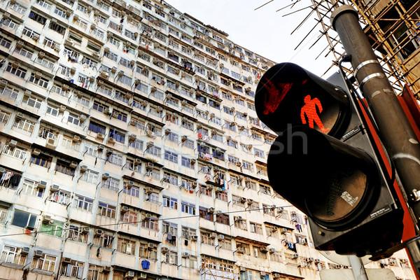 öreg lakások Hongkong város élet fut Stock fotó © cozyta
