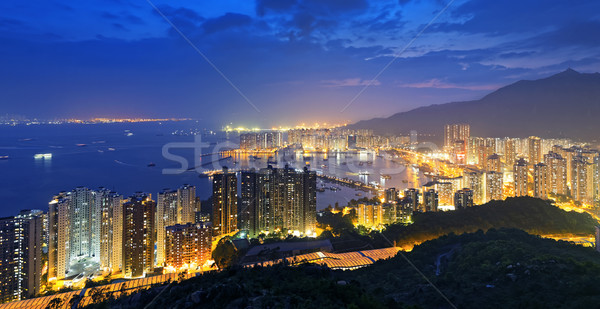 Hong Kong skyline zuiden China zee nacht Stockfoto © cozyta