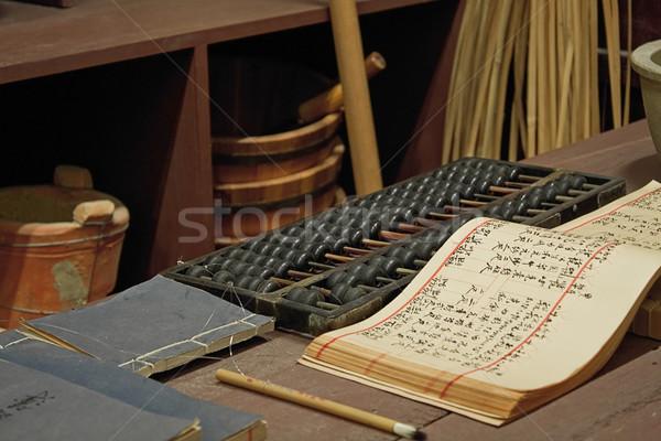 ábaco livro tabela chinês velho compras Foto stock © cozyta