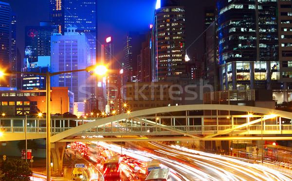 traffic night in city Stock photo © cozyta