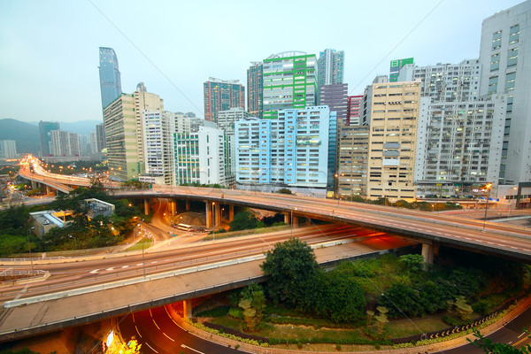 download area and overpass in hong kong Stock photo © cozyta