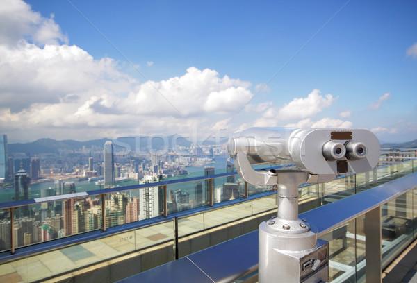 View point with telescope near hongkong,china  Stock photo © cozyta