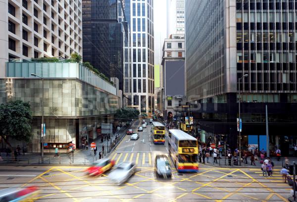 Hong Kong financiar distrito casa carretera ciudad Foto stock © cozyta