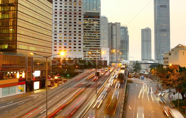 Сток-фото: шоссе · автомобилей · бизнеса · город · свет · улице
