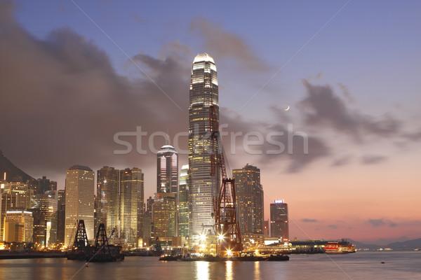 Sunset in Hong Kong Stock photo © cozyta