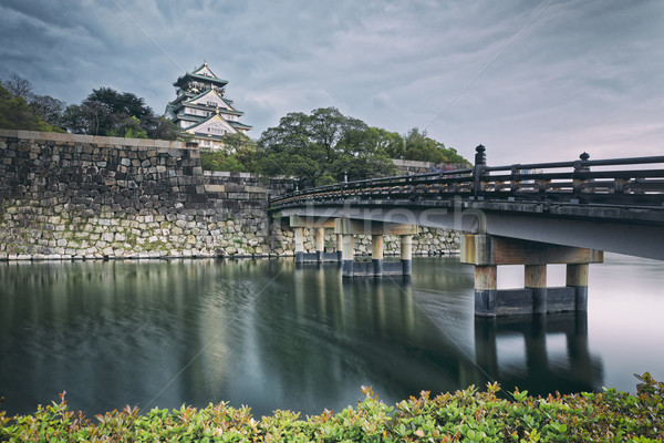 Osaka kale gün batımı Japonya işaret unesco Stok fotoğraf © cozyta
