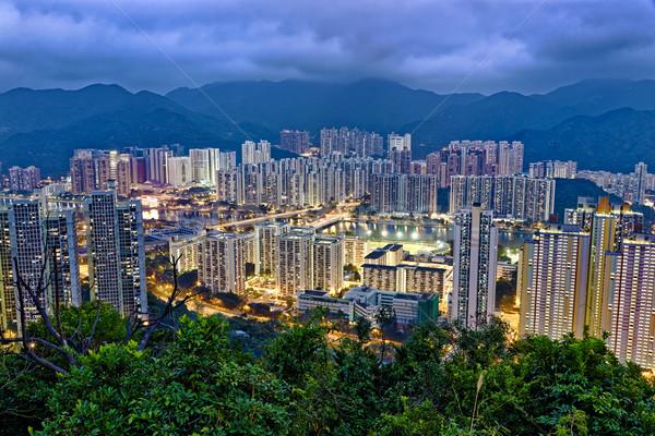 Hong Kong Sha Tin at Night Stock photo © cozyta