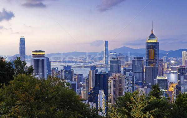 Stok fotoğraf: Hong · Kong · şehir · merkezinde · iş · ofis · şehir · deniz