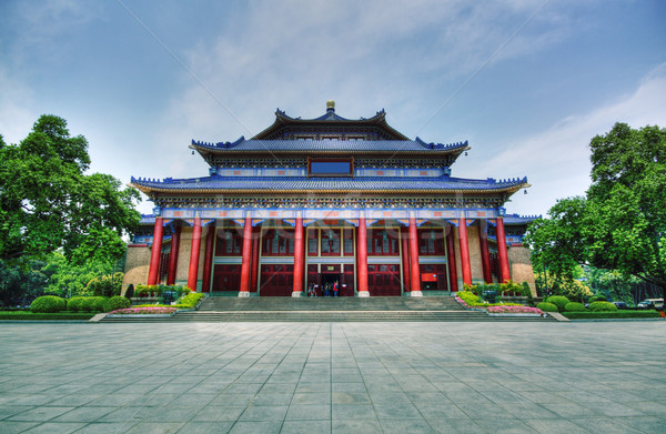 Sun Yat-sen Memorial Hall in Guangzhou, China. It is a HDR image Stock photo © cozyta