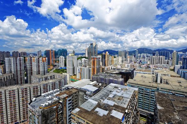 Hong-Kong urbaine centre-ville jour bâtiment construction Photo stock © cozyta