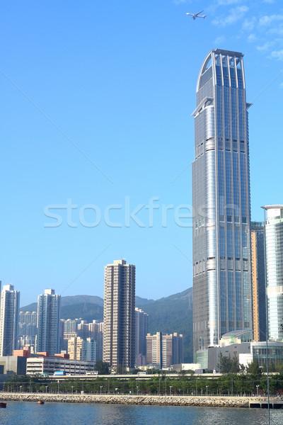Сток-фото: мнение · современных · город · небе · синий