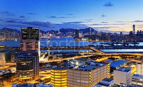 Kowloon at night Stock photo © cozyta