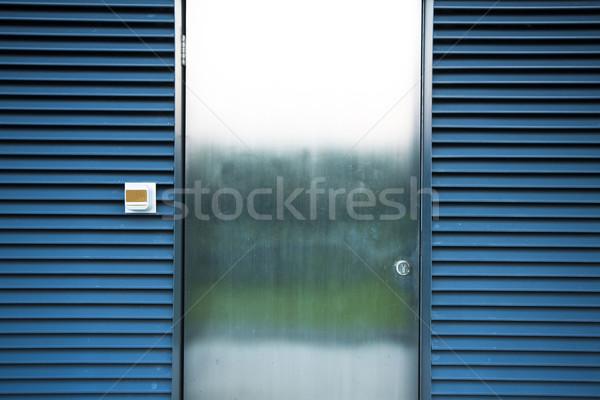 Acél ajtó iroda épület város fal Stock fotó © cozyta