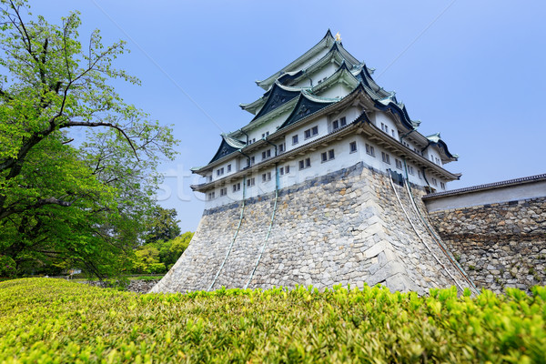 Nagoya castle atop with golden tiger fish head pair called 'King Stock photo © cozyta