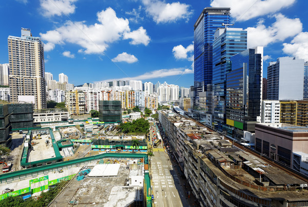 香港 日 スカイライン オフィスビル 公共 家 ストックフォト © cozyta