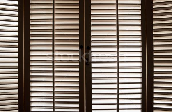 Wooden Window Shutters Stock photo © CrackerClips