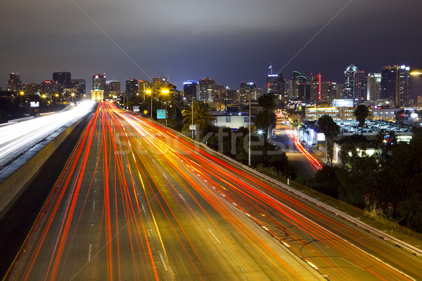 San Diego Skyline, Freeway Stock photo © CrackerClips
