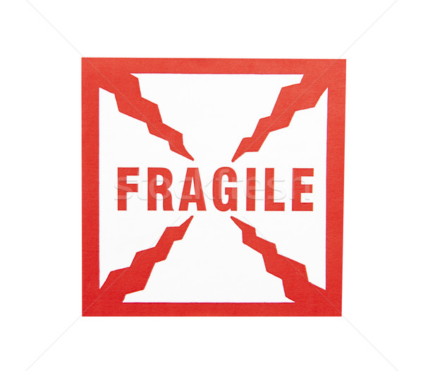 Fragile Sticker - Photo Object Stock photo © CrackerClips
