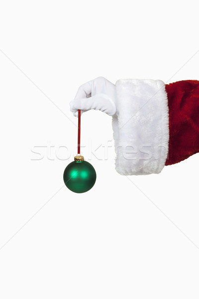 Santa Holding a Christmas Ornament Stock photo © CrackerClips