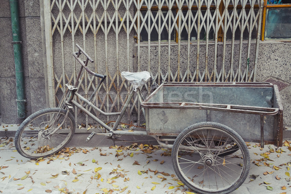 Weathered Bike Parked in Beijing  Stock photo © CrackerClips