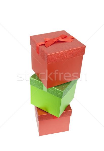 три красный зеленый Рождества представляет изолированный Сток-фото © CrackerClips