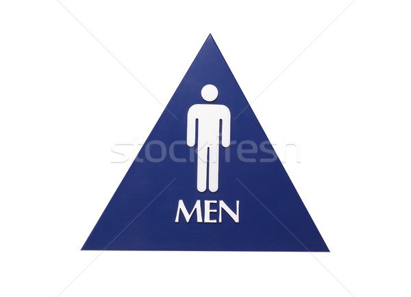 Men's Restroom Sign - Photo Object Stock photo © CrackerClips
