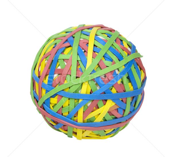 Labda gumi fotó tárgy tarka vágási körvonal Stock fotó © CrackerClips