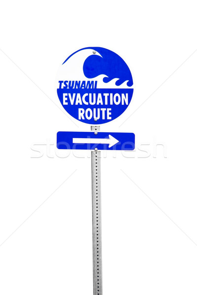 Tsunami Evacuation Route Stock photo © CrackerClips