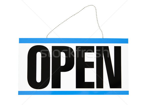 Open Sign - Photo Object Stock photo © CrackerClips