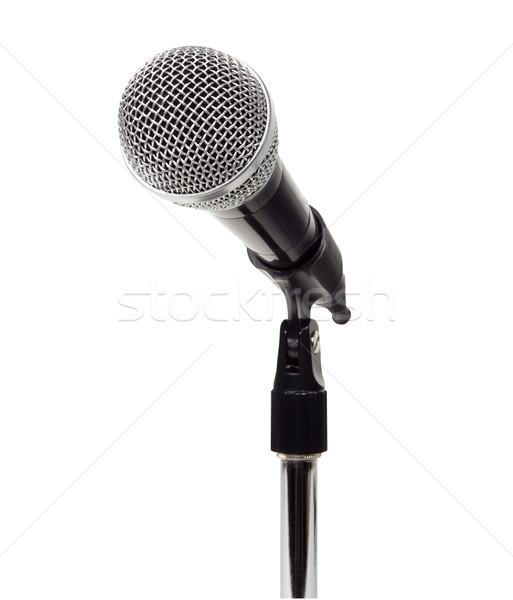 микрофона фото объект стоять Сток-фото © CrackerClips