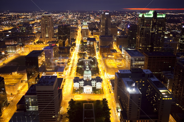 Downtown St. Louis Skyline at Night Stock photo © CrackerClips