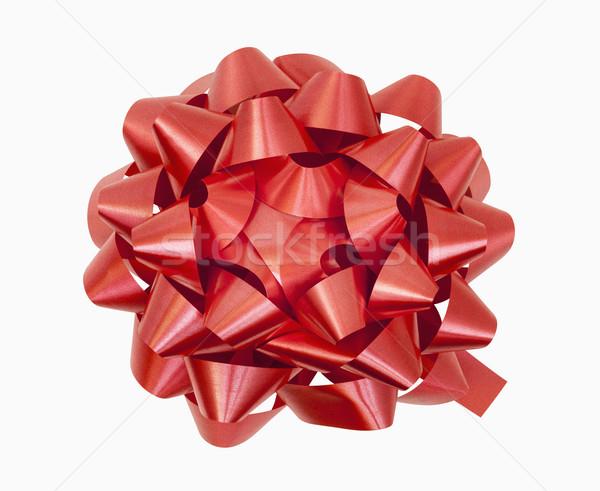 Piros íj vágási körvonal szalag Stock fotó © CrackerClips