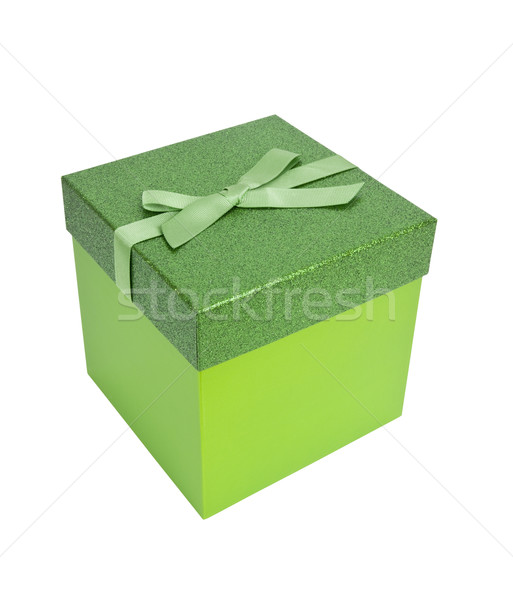 Green Christmas Present Stock photo © CrackerClips