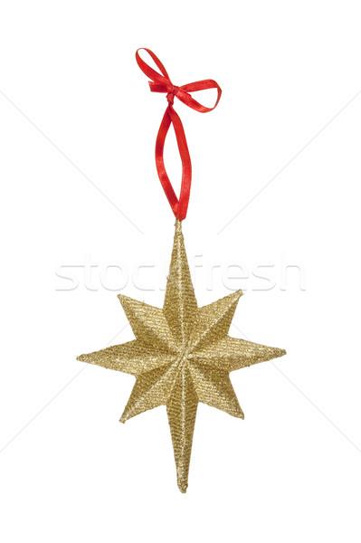 Estrellas Navidad ornamento aislado blanco Foto stock © CrackerClips